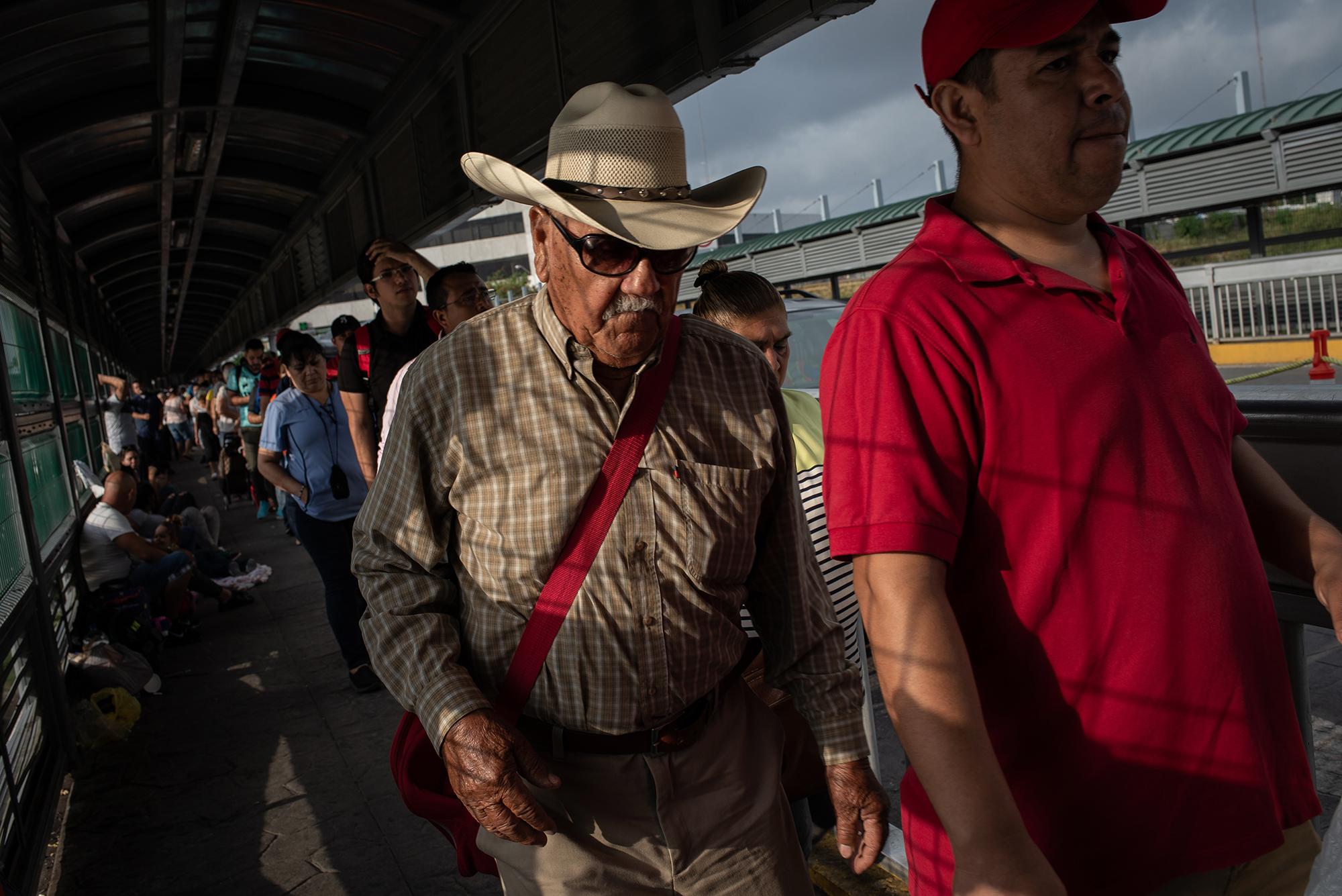 General view at Laredo / Nuevo Laredo International Bridge. June 25th, 2018. Photographer: Luján Agusti.