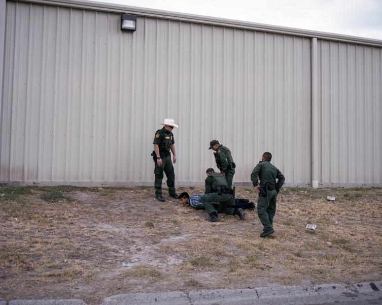 U.S. Border Patrol arrest a migrant in South Texas.
