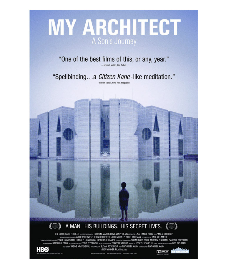"My Architect (2003)    From website:   ""Director Nathaniel Kahn barely knew his father, but many throughout the world did. He was renowned architect Louis Kahn, who designed noteworthy buildings in California, Texas and even Bangladesh. Nathaniel explores his father's past, interviewing architects such as Frank O. Gehry, as well as members of the multiple families started by the philandering Louis. What emerges is a portrait of a brilliant but unreliable man whose creations, which are featured prominently in the film, still astound."""