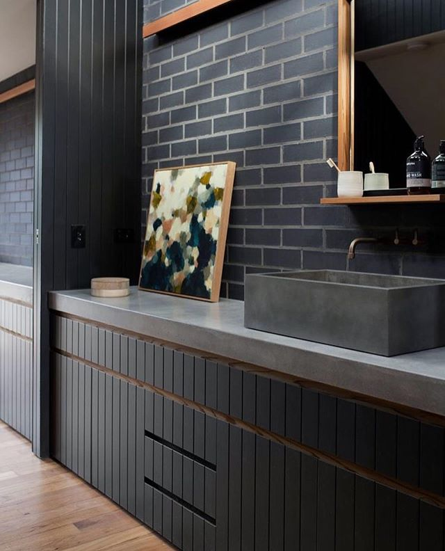 How do you feel about black interiors? . . I love a bold and impactful space. I'm particularly obsessed with this moody black bathroom by @studioblackinteriors 🖤🖤🖤 . . . . #moderninteriordesign #moderninteriors #moderninterior #modernchattanooga #chattanoogamodern #chattanoogahomes #chattanoogastyle #blackbathroom #blackcabinets #moderncabinets #chattanoogainteriors #chattanoogainteriordesigner #chattanoogainteriordesign #chattanoogaarchitecture #noogagram #noogafirst #moodyinteriors