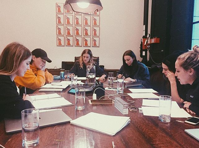 Our table read where #pioneersfilm writers/actresses @lady.dianalynne @biancarusu, directors @similarbutdifferent_, DP @allisonandyou, and producers @slmbr_prty discussed script notes and worked out key filming elements before beginning production  #womeninfilm #femalefilmmakers #femalefilmmakerfriday #shortfilm #western #thriller #slmbrprty