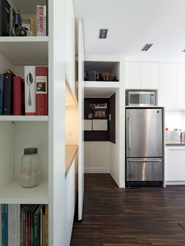 Concealed Door to Basement as Built as Custom Millwork; Open Position