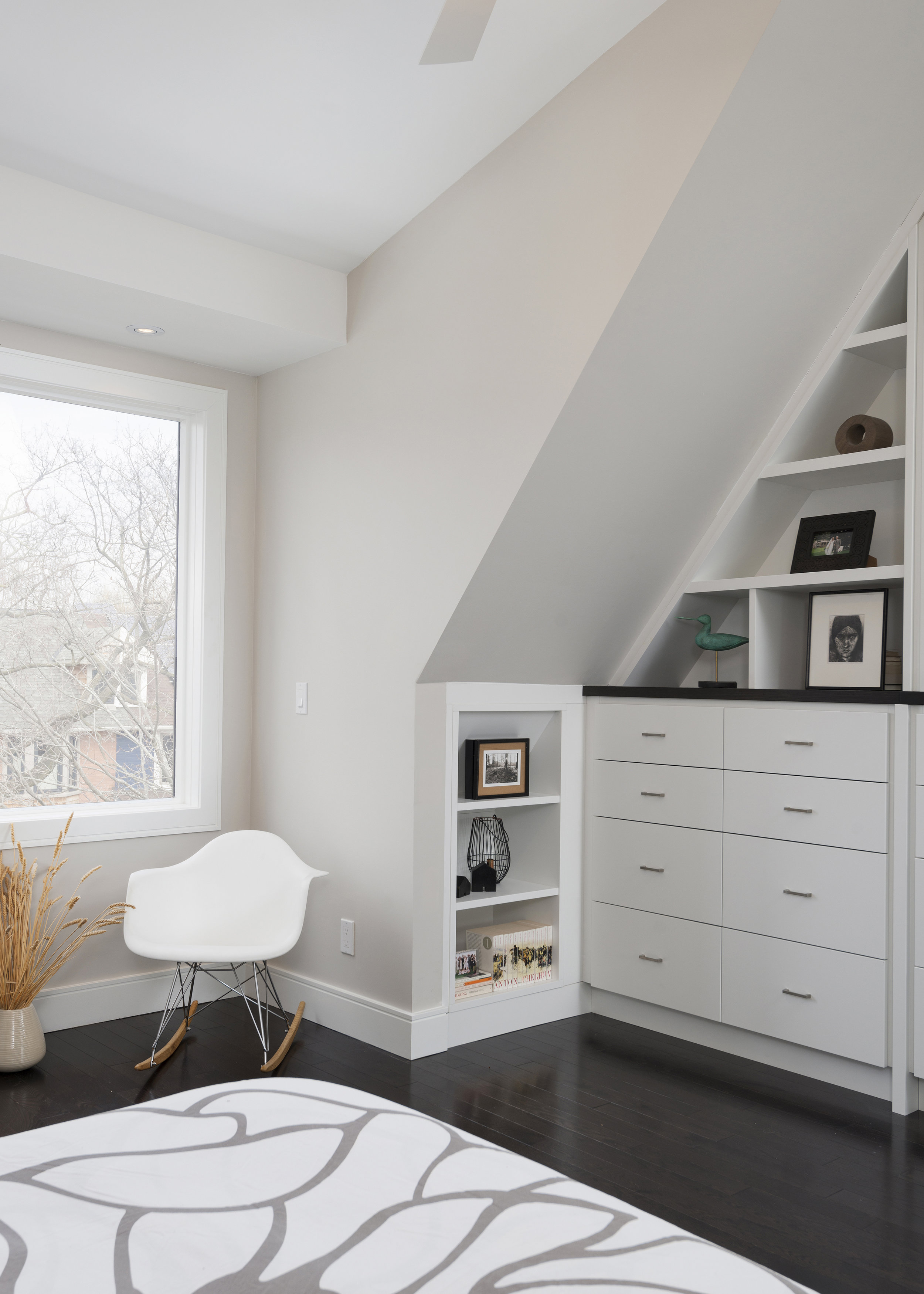 Custom Shelving Throughout space