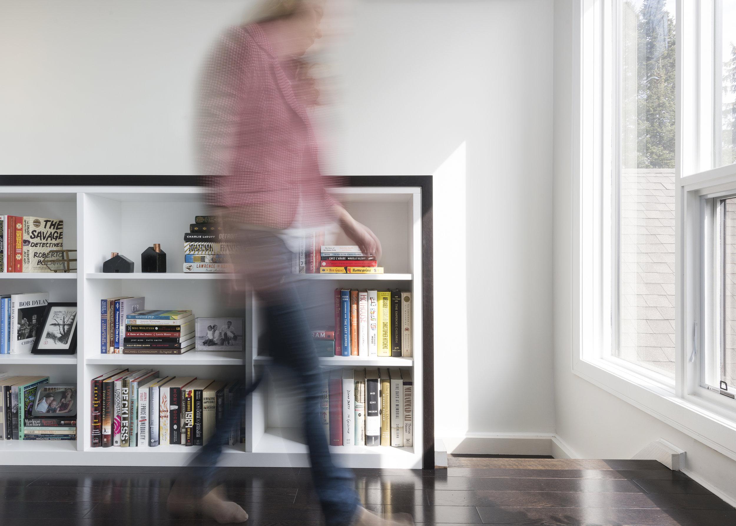 Stair Guard Incorporates Bookshelving