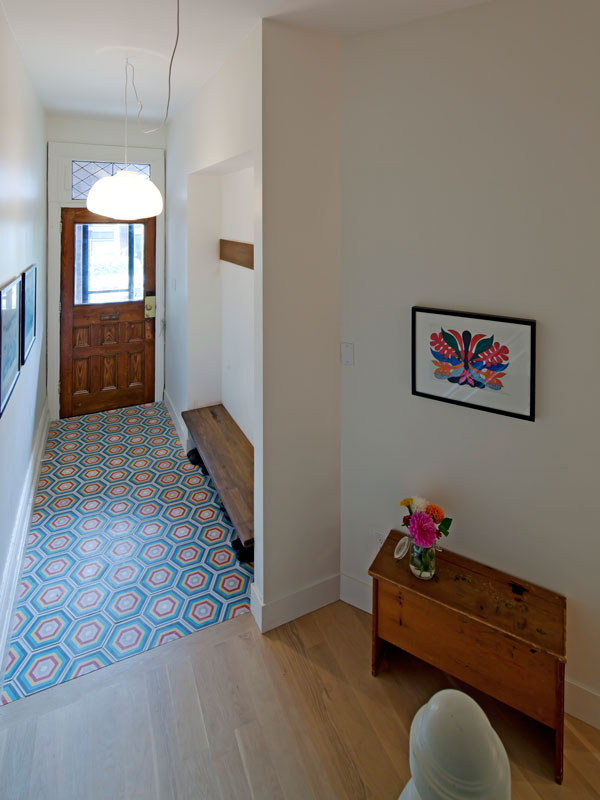 Front Entry Hall with Cement Encaustic Tiles