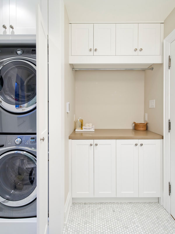 Laundry Millwork in Use