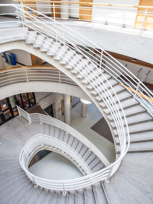 The Exisitng Circualr Stair with new fisnihes.