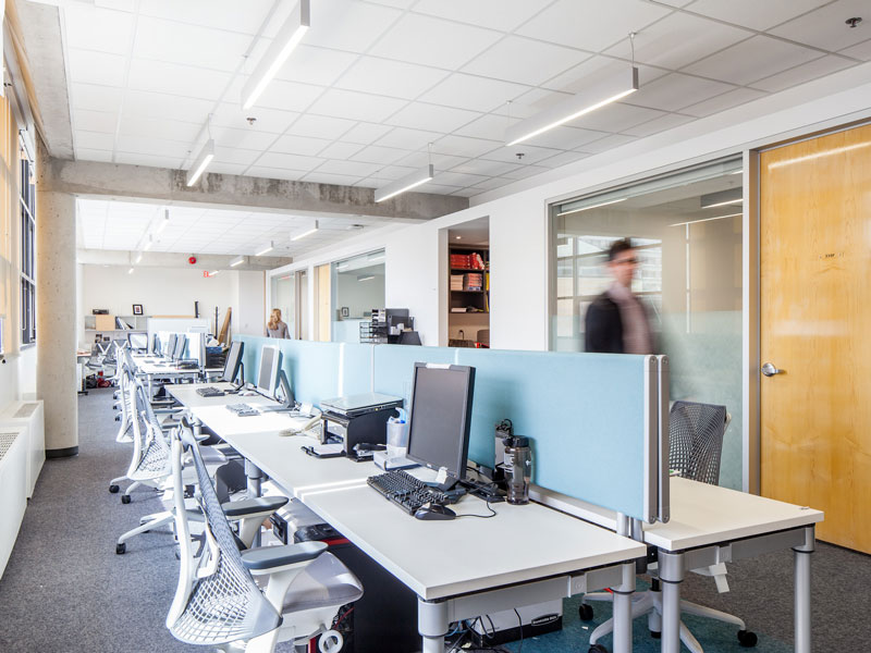 The Student Center offices were completely renovated to include an open office environment.