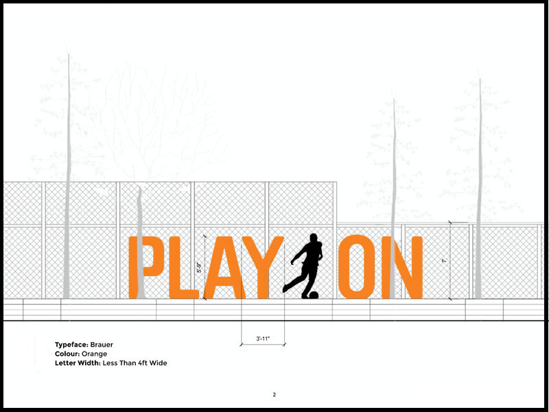 Design Concept for Installation on Fence