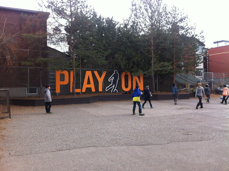 Final Installation in School Yard