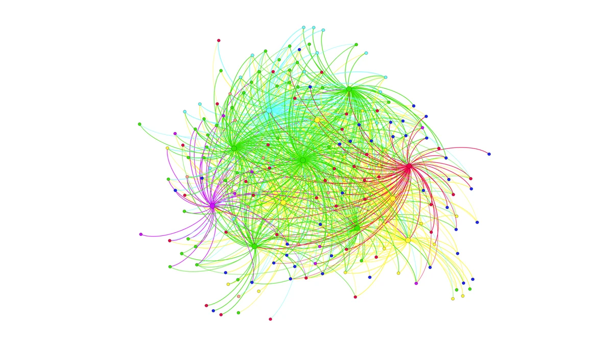 Above, a sample of a Social Network Analysis Map