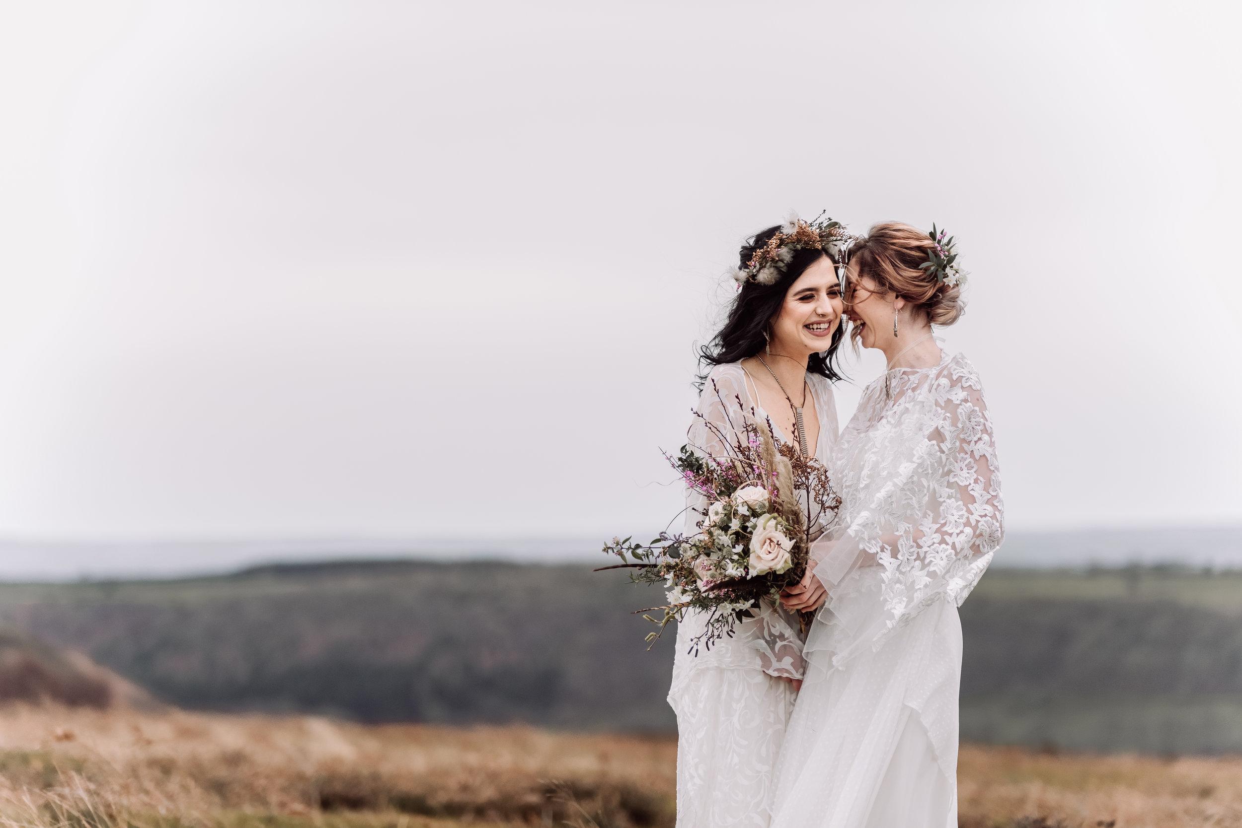 Yorkshire moorland elopement