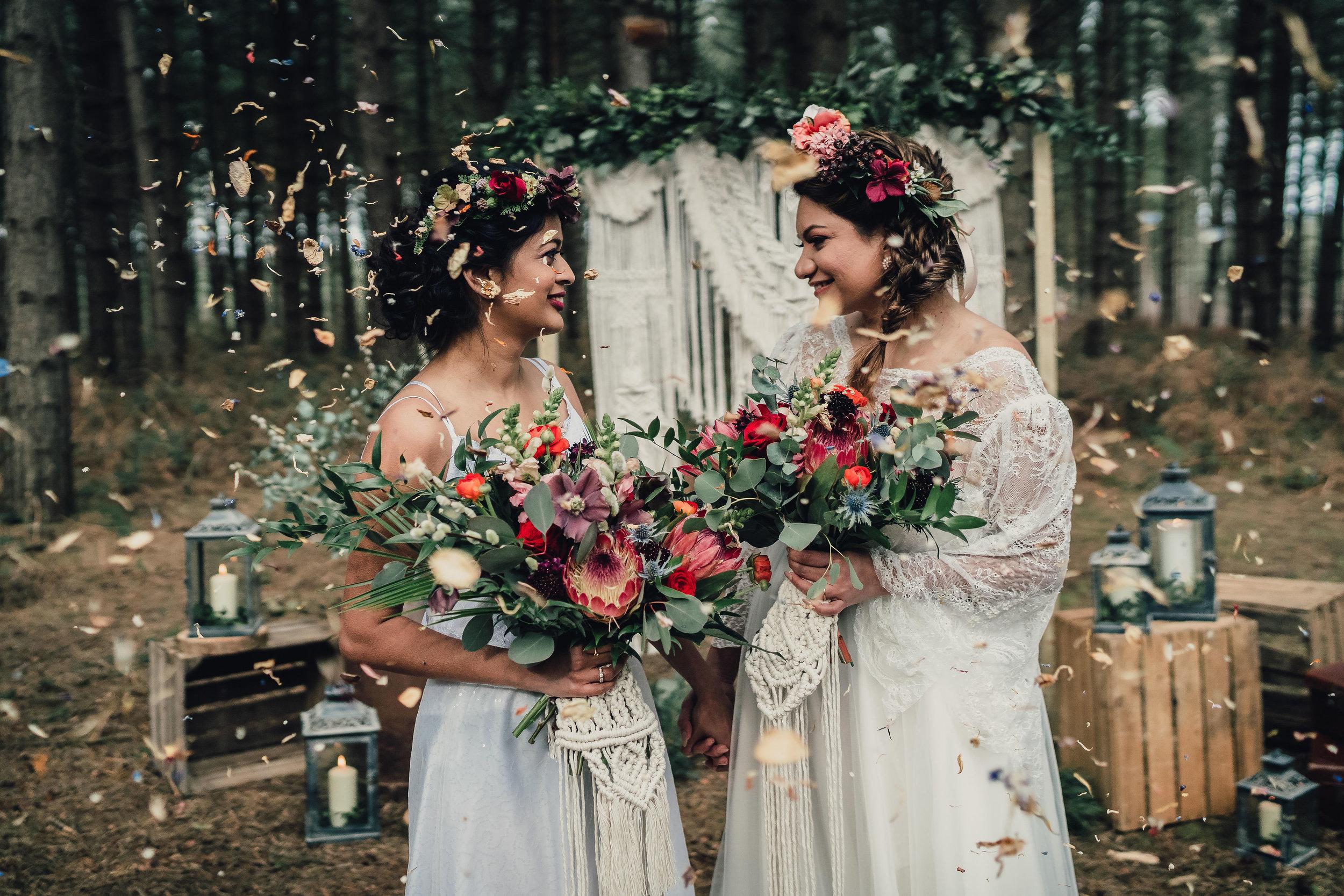 Woodland elopement wedding