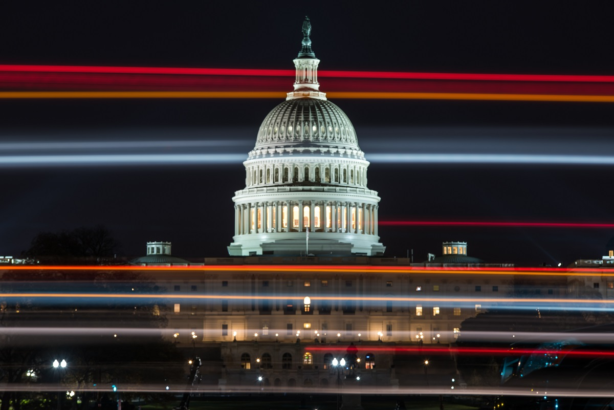 Capitol Building at night. Source:    smartcitiesworld.com