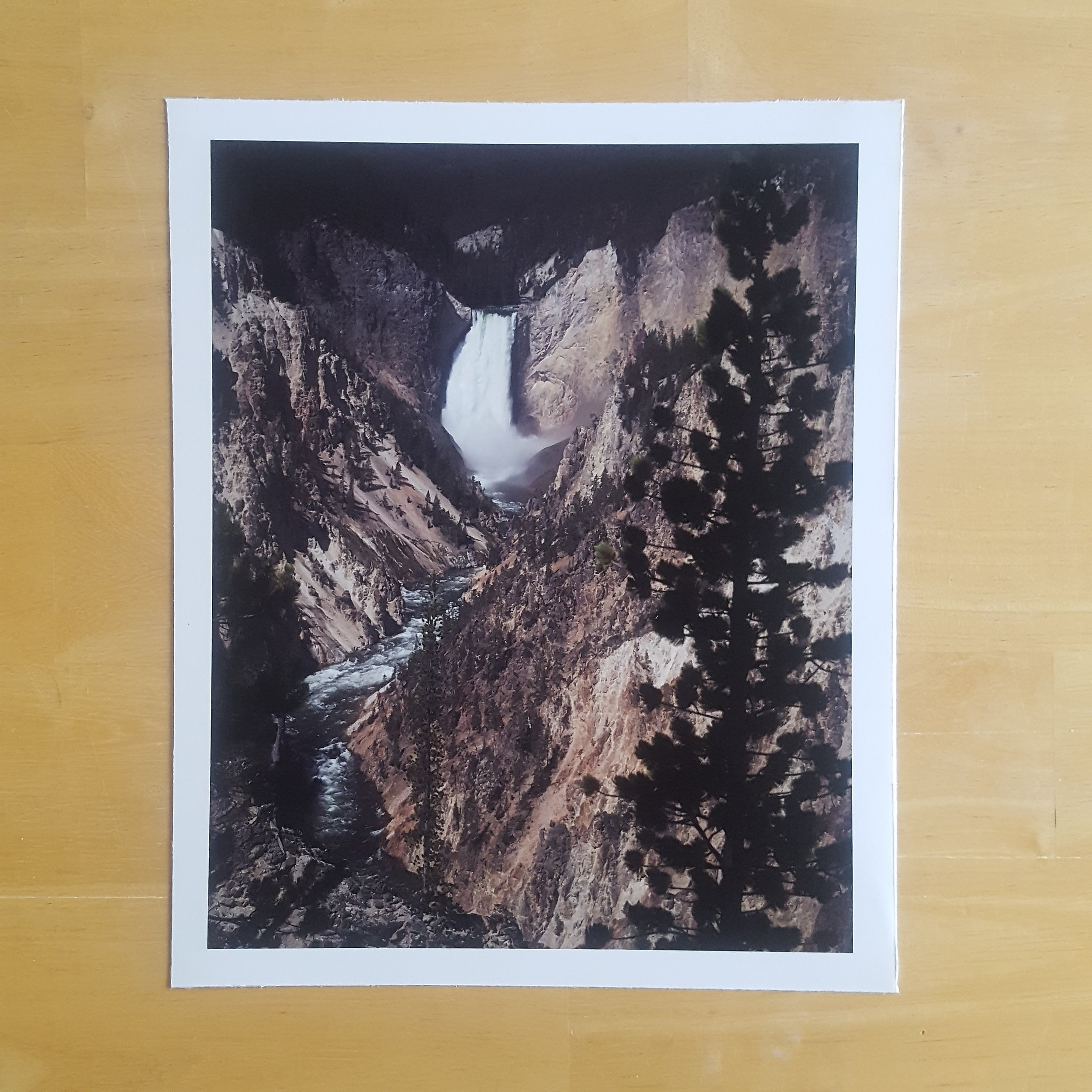 a print of  melanie's  photograph of yellowstone falls; the camera on my phone does not at all do its beauty justice