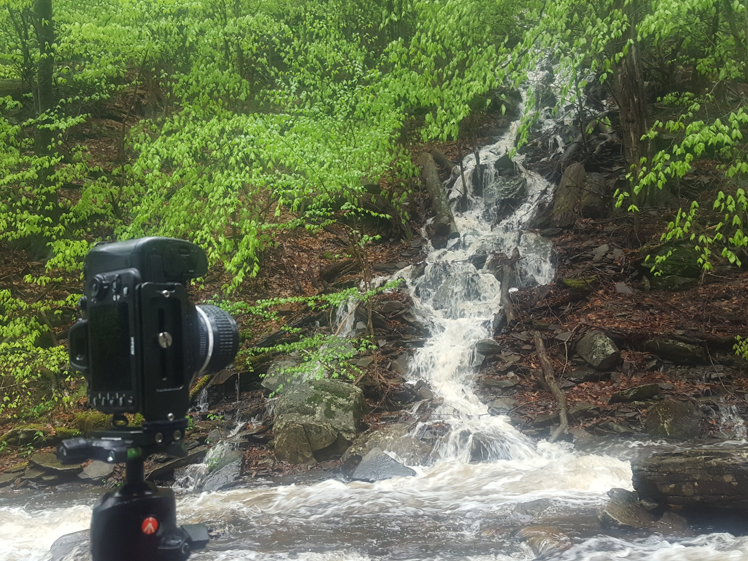 working on a panorama of a waterfall i had missed on earlier trips