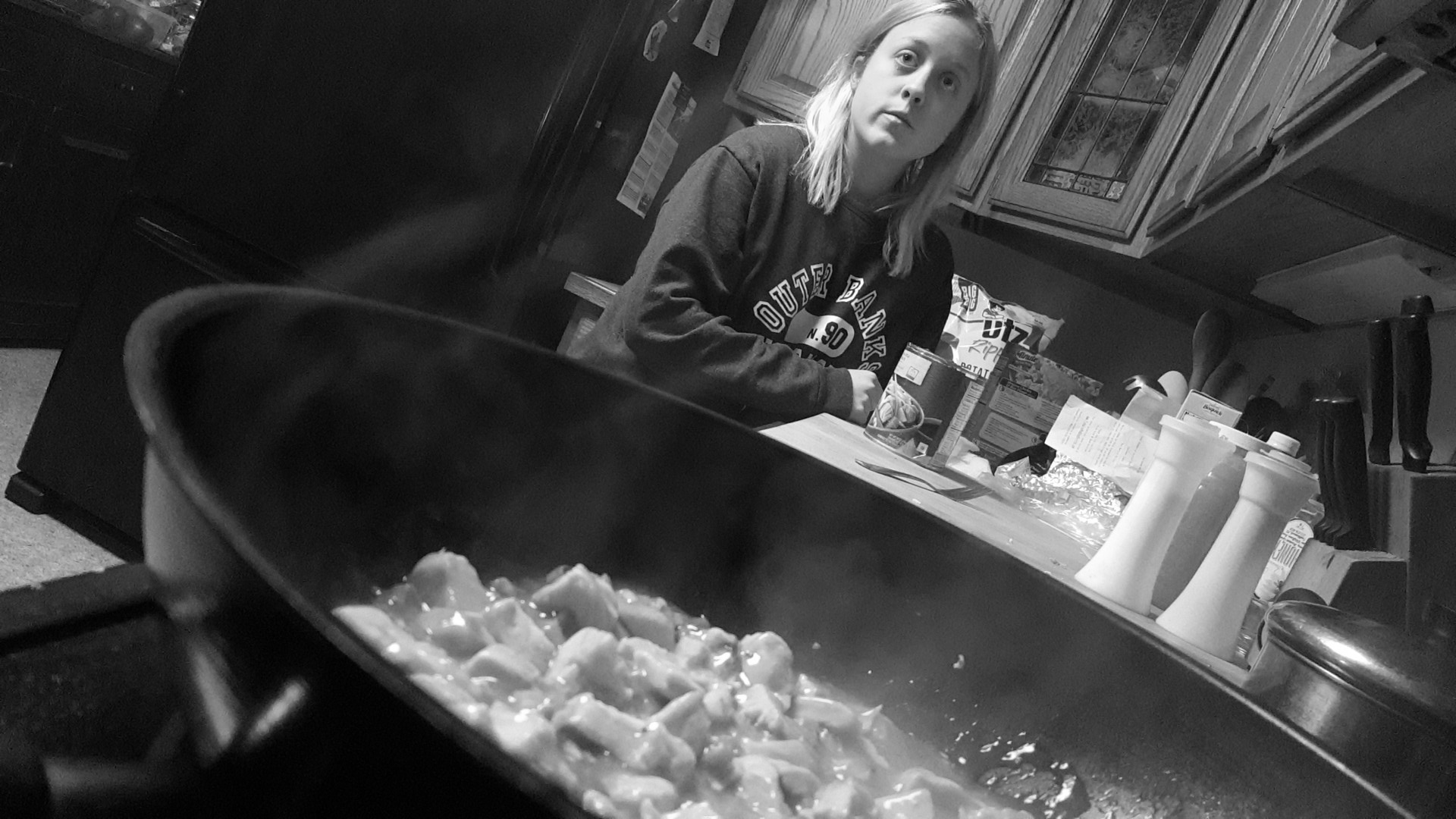 the love of my life, cooking away - and  Mel  of course :D