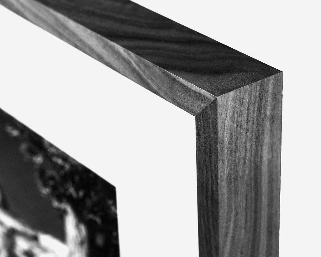Black Maple Frame Corner Sample  Photo by David Rathbone (Saw and Mitre)