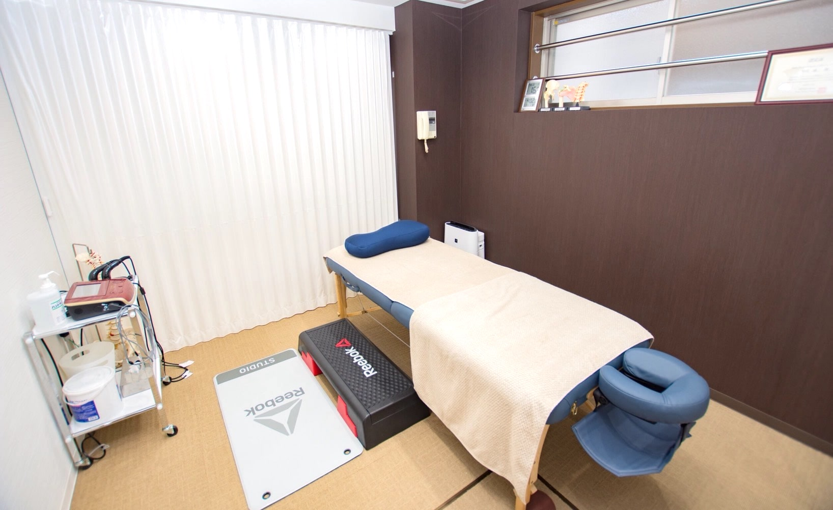 駒沢大学のレンタルジムTHE PERSONのマッサージルーム