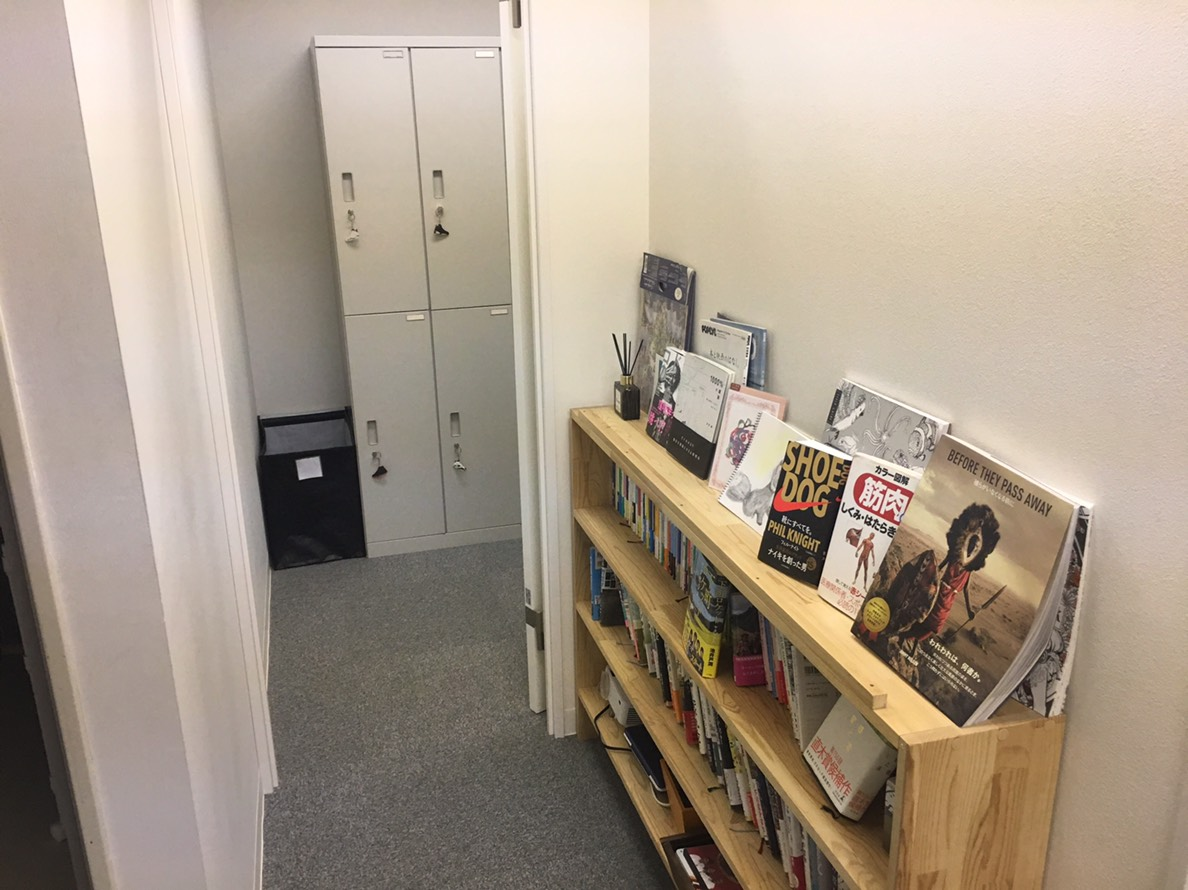 THE PERSONレンタルジム浜松町の更衣室.jpg