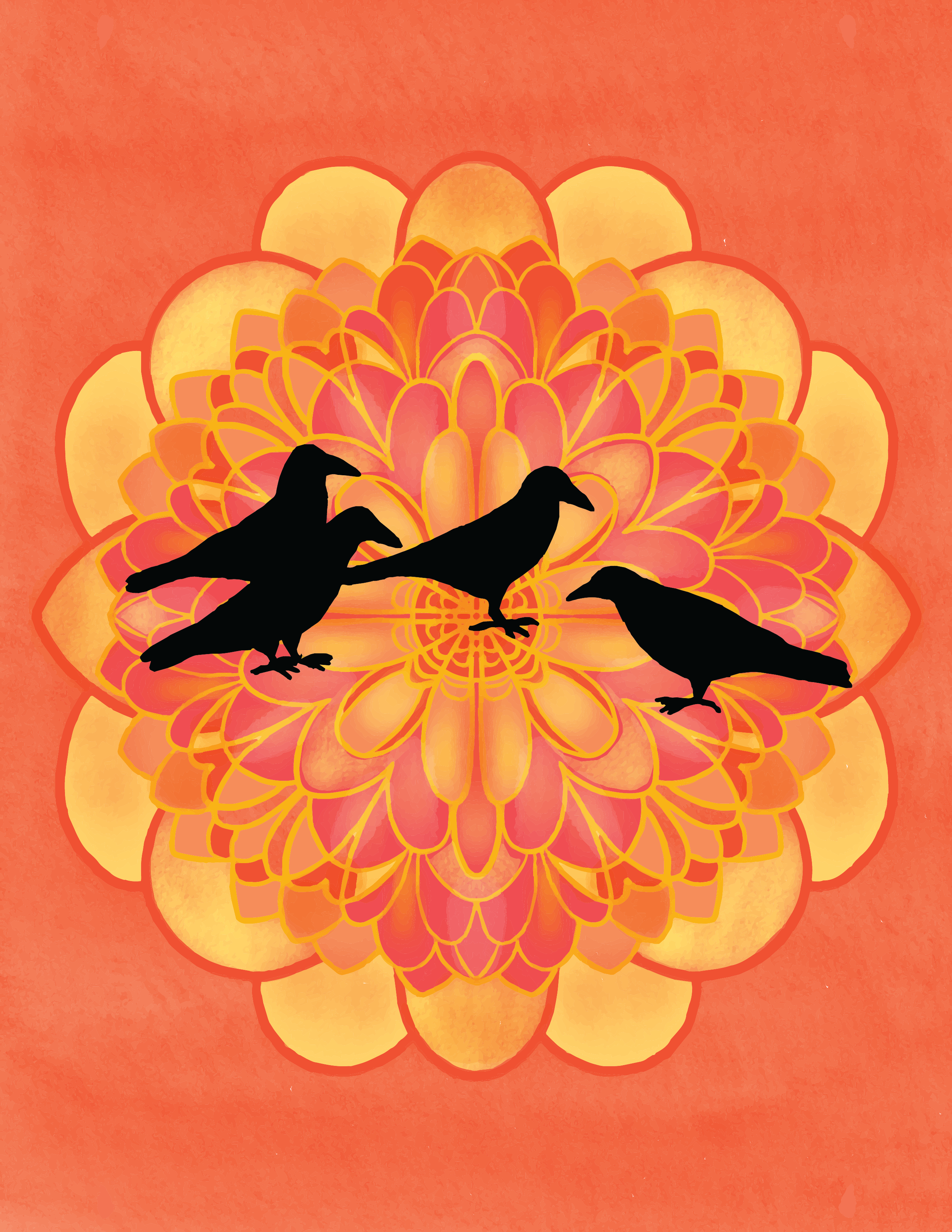 Raven messengers and a marigold mandala - adorn the cover for the autumn issue of Almanac of Seasonal Mindfulness. This issue will offer invitations related to the theme of harvest— including essays, practices and poetry about turning towards grief, seasonal reflection, release ritual, gratitude, foraging haiku, and honoring inner wisdom.Single issue subscriptions are now available for pre-order. (If you already subscribed to the full-year, the autumn issue is included in your subscription.)The fall issue goes live on Autumn Equinox, September 23rd.