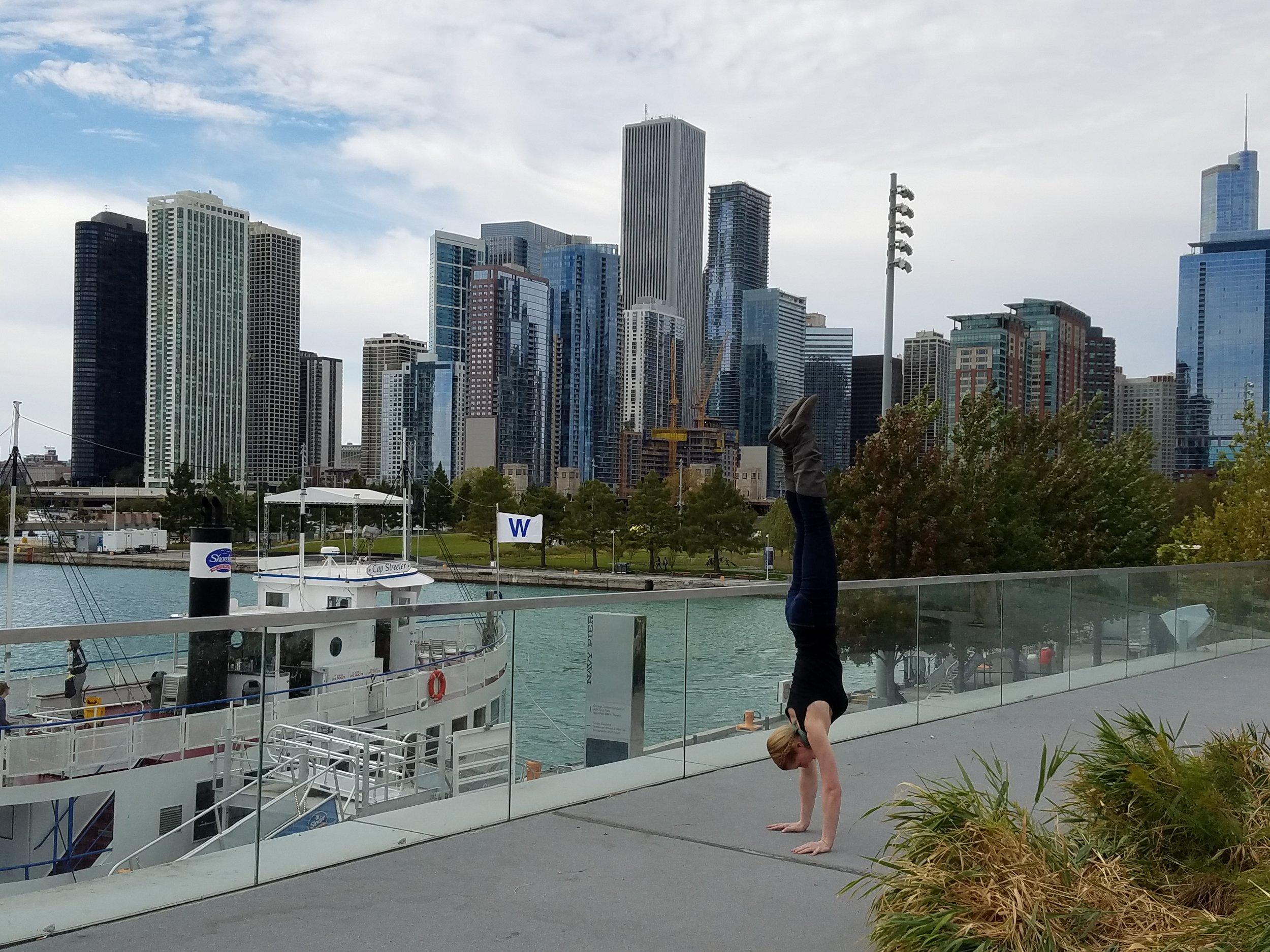 Handstand at Navy Pier