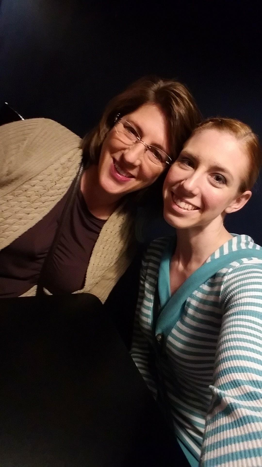 Mom and Me before Improv Show