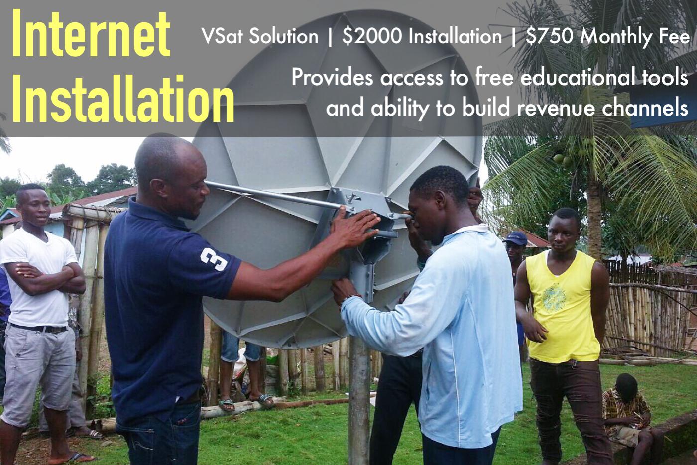 Rural Internet Installation in September 2016.