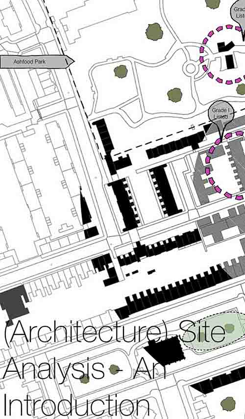 (Architecture) Site Analysis - An Introduction   (Architectural) site analysis provides the foundation for strong, simple and well-established Architecture design concepts. Here we provide an introduction into site analysis covering what you should be looking for, why is so important, and how it should be used.