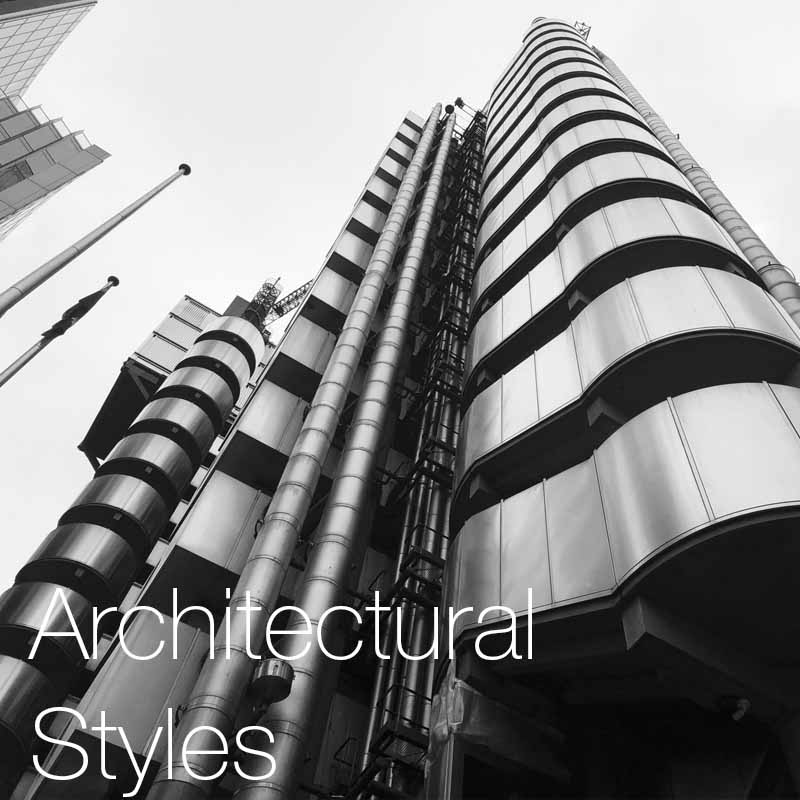 Architectural styles   A chronicle presentation of the key architecture styles that have helped develop and shape the architecture we experience today.