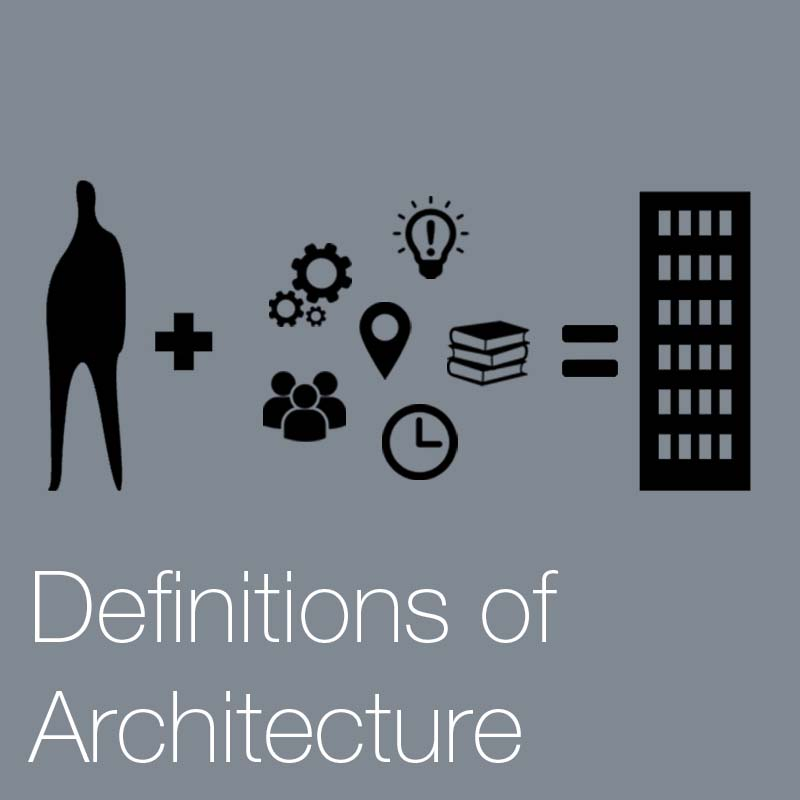 The definition & meaning of architecture    There are many definitions of architecture that help define its meaning and understanding, here we discuss and break down the complex elements that make it.