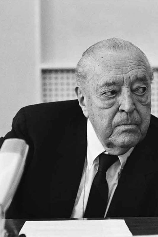 Mies van der Rohe | Life & Career    This biography looks at the life, buildings and furniture of modernist architect Ludwig Mies van der Rohe.