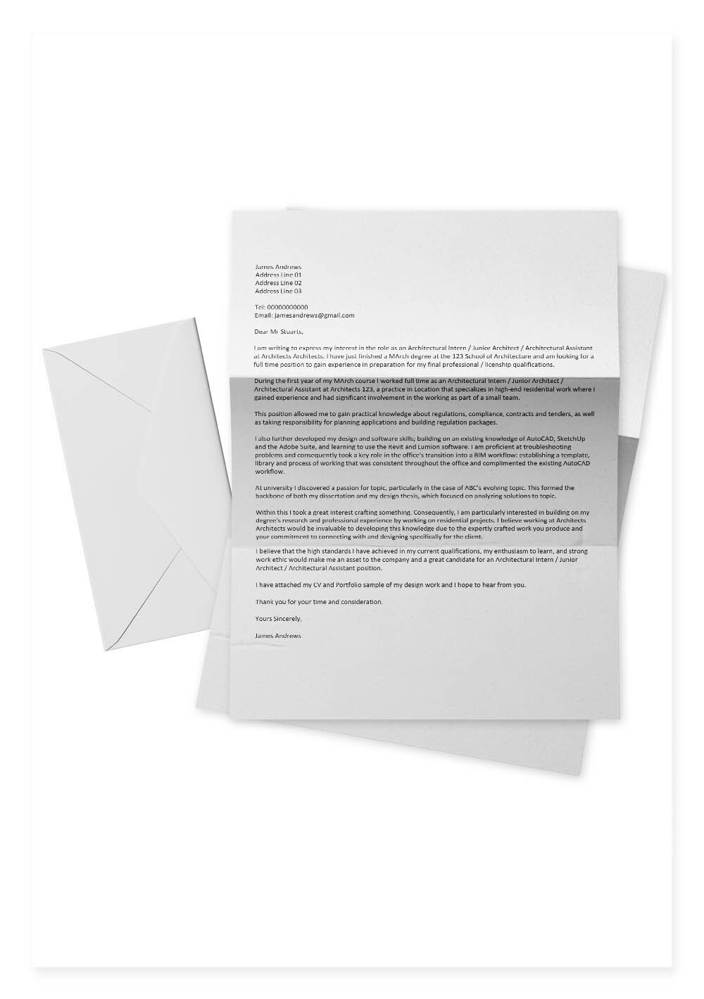 Architecture Cover Letter Templates Archisoup Architecture Guides Resources