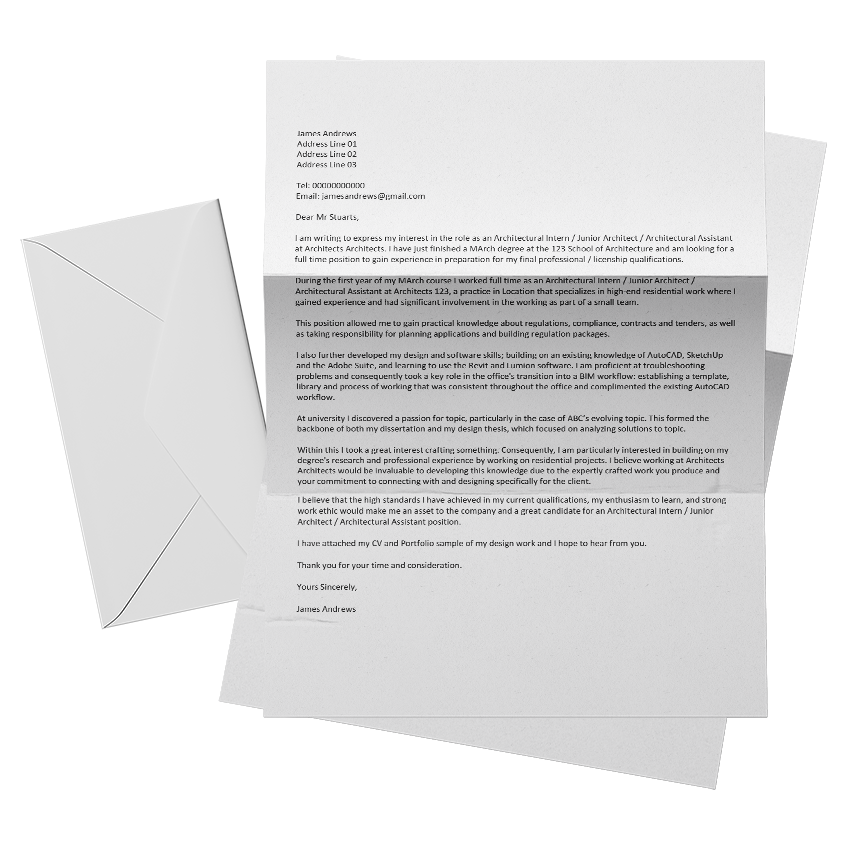 How To Write The Perfect Architecture Cover Letter Archisoup Architecture Guides Resources