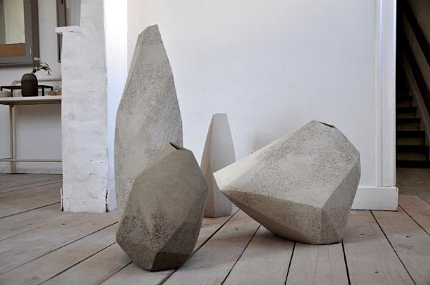 Sculptures en grès, commande privée.