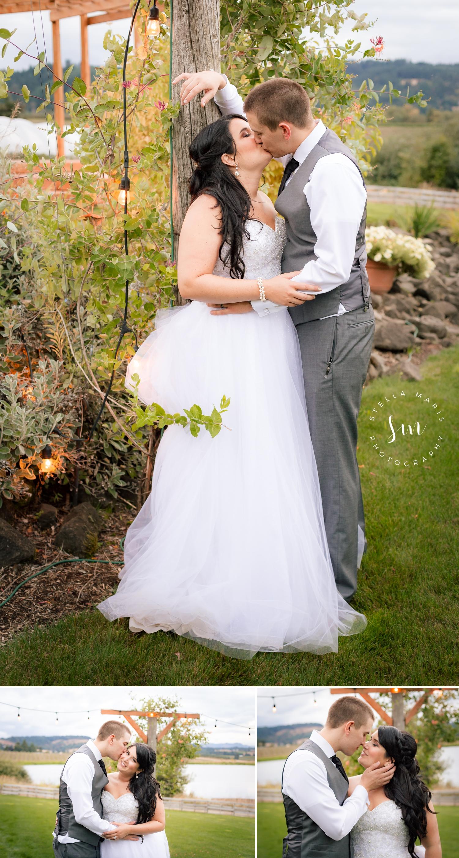 Oregon Bride and Groom celebrating