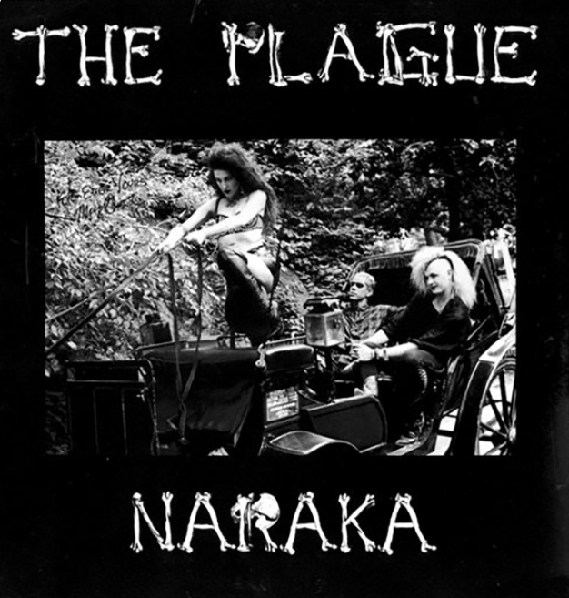 """The cover of The Plague depicts Day as the driver of an antique horse-drawn carriage bearing her other band mates. The image helps to conjure subliminal impressions that declare that the work is classic, driven and eternally stylish"". Melody Maker Mick Mercer All Songs written by the Plague c1987. Margot Day: Vocals, Flute, Lyrics. Bones: Bass, Lyrics. Christian Richins: Guitar. Carmen Bohn Lyrics"