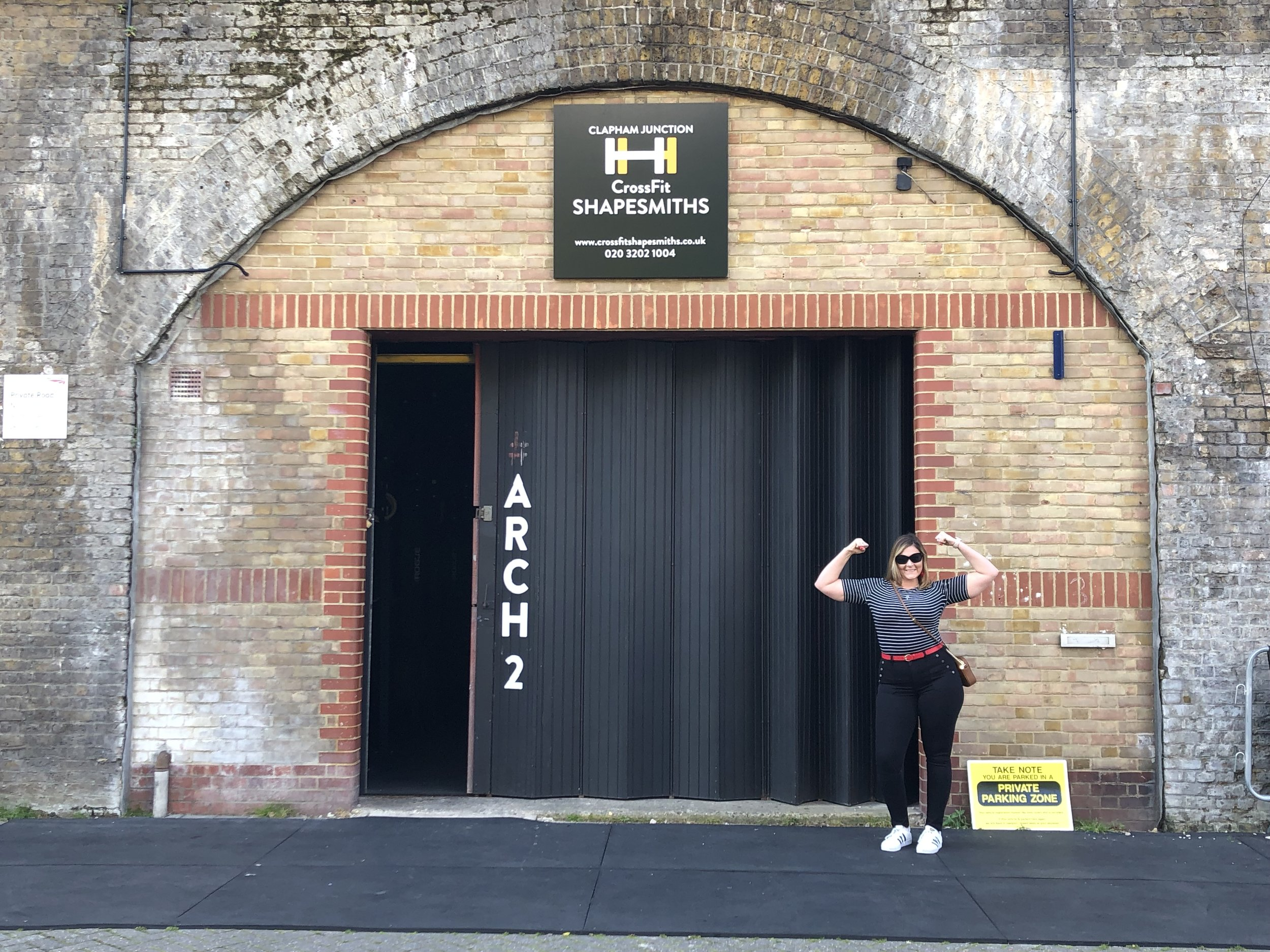 Danielle at CrossFit Shapesmiths in London!
