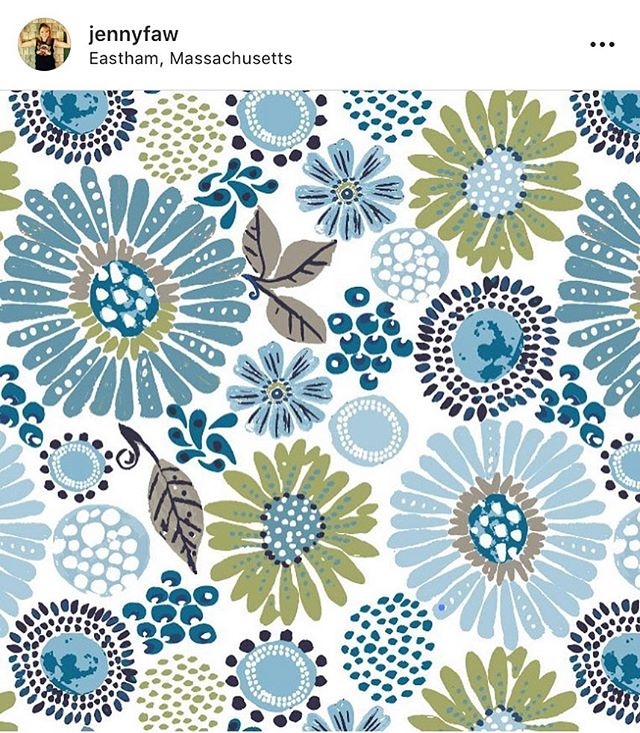 Just one of the color ways from Jenny's latest collection!  #brandedartist #artcollection #surfacepattern #surfacepatterndesign #licensing #artlicensing #brandedlicensing #zinnia #flowers #art #artist #pattern #patterndesign
