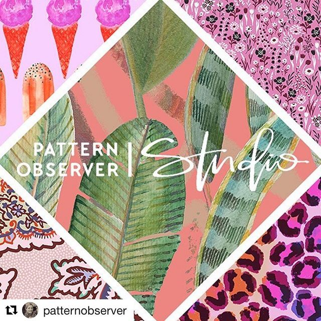 On Wednesdays we wear pink. 🌸  So much NEW art being added to the portfolio!  It's very exciting!  #Repost @patternobserver with @get_repost ・・・ With warm weather on the horizon we are thinking pink over at Pattern Observer Studio. In today's post @chelseavonhasseln highlights a few of her favorite #pink patterns from our studio library. This perennial favorite shade is cheerful, summery and infuses whatever it touches with youthful energy and fun.  #licensing #artlicensing #portfolio #brandedlicensing #brandedartist #designstudio #art #artist #patterndesign #surfacepatterndesign