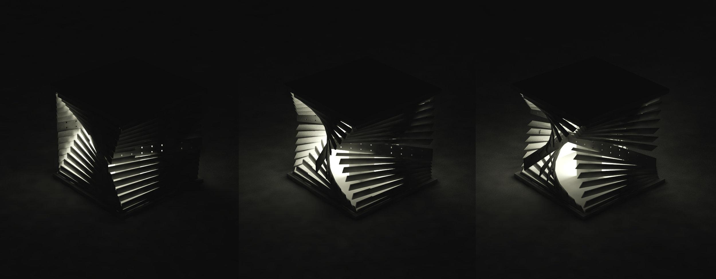 Lamp in three levels of brightness