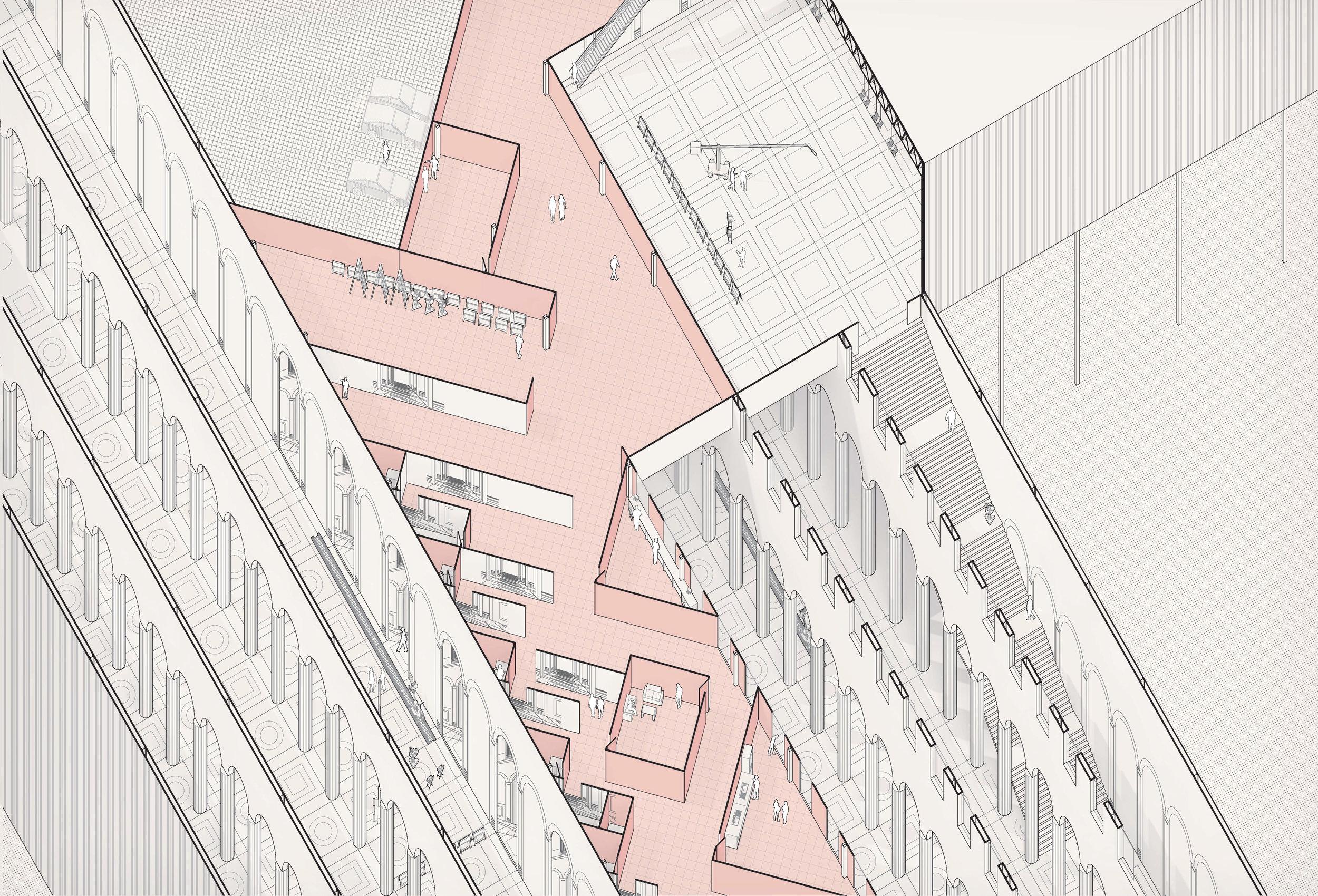 Plan Oblique Interior View