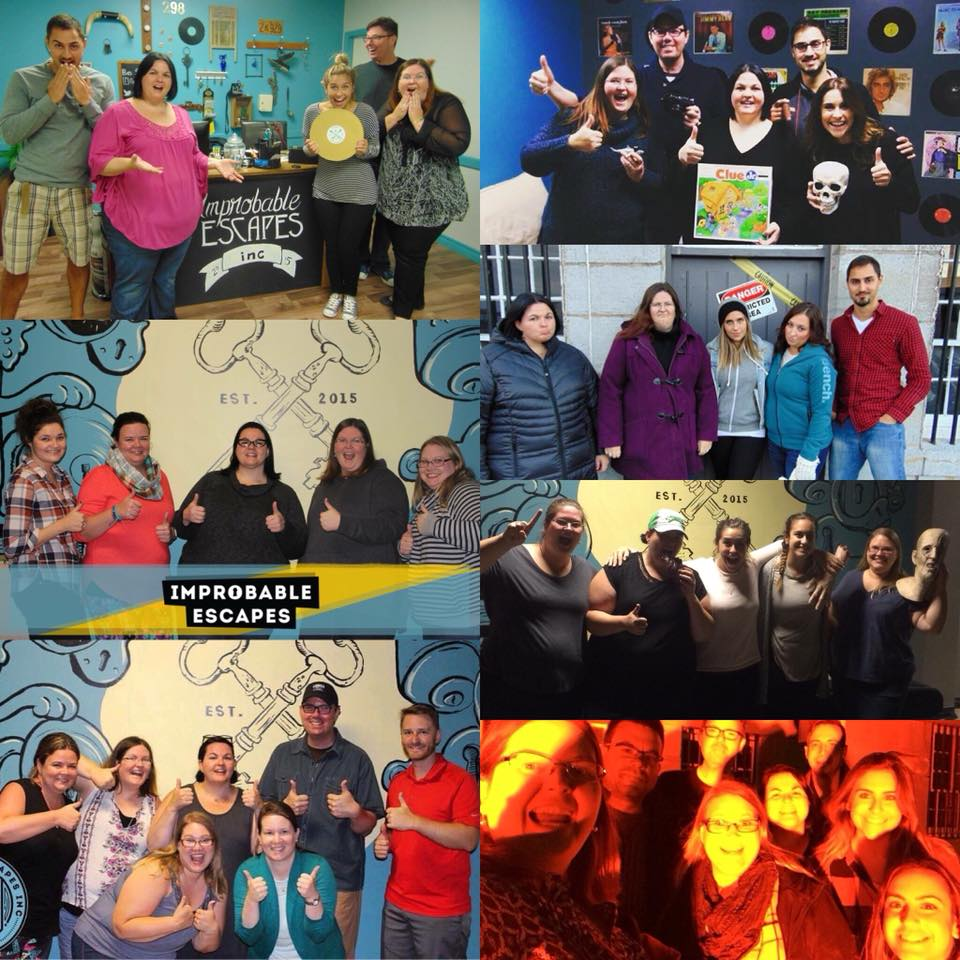 This team,  The Master Keys  , has played so many games with us! Here is a compilation of their team photos, ranging from our first location at 298 Bagot Street, to Fort Henry National Historic Site, and to our current location at 303 Bagot Street Suite 16B! Credit: Jodi Amanda O'Sullivan