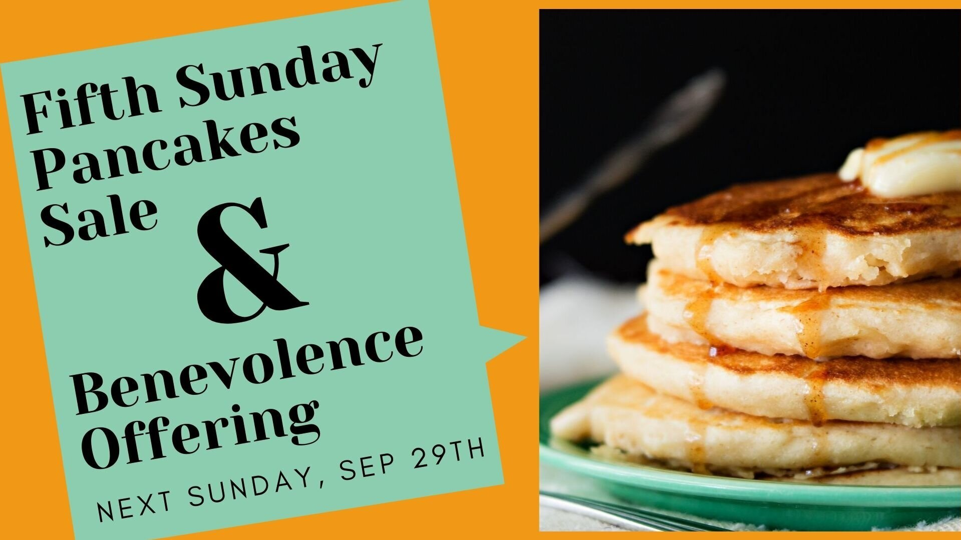 Please Note this Event will be Sunday, September 29th.
