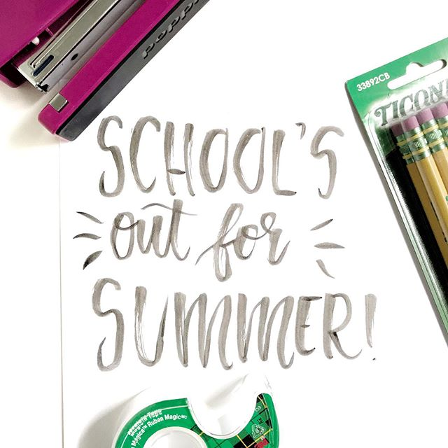 No more pencils, no more books...no more teachers' dirty looks 😉 happy summer vacay to all my teacher friends! ✌️