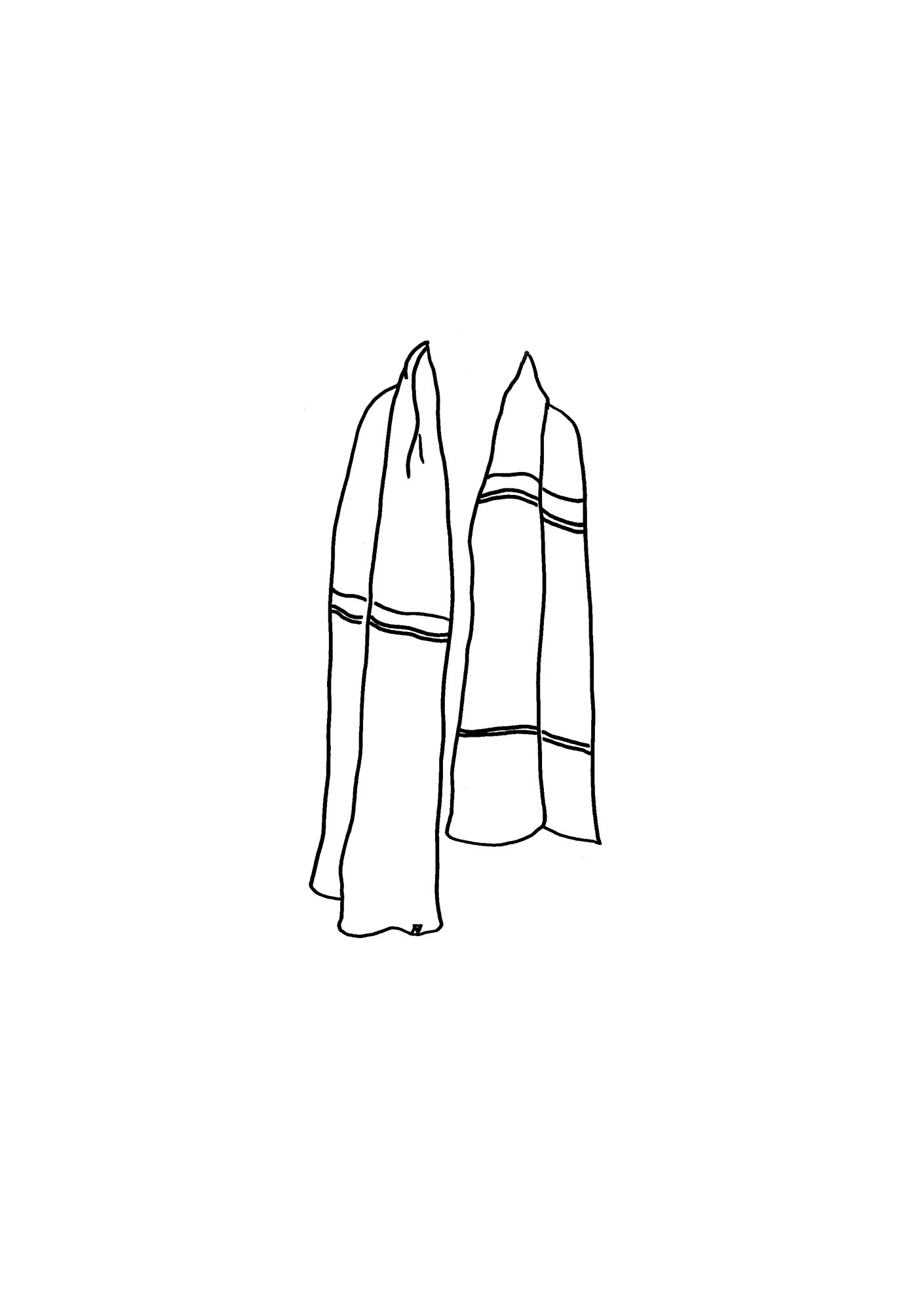 Edie Scarf is made from 100% Lambswool. A slightly larger scarf than the classic CT scarf.
