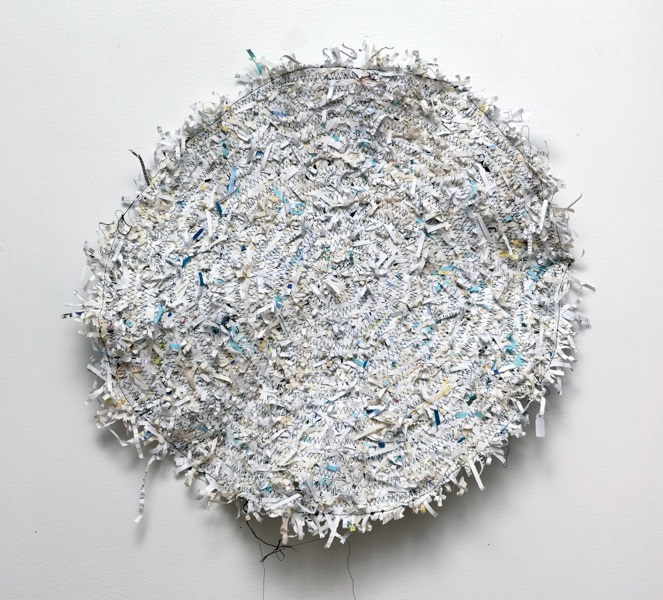 rug,  2011 shredded paper, thread46 x 46 cm.