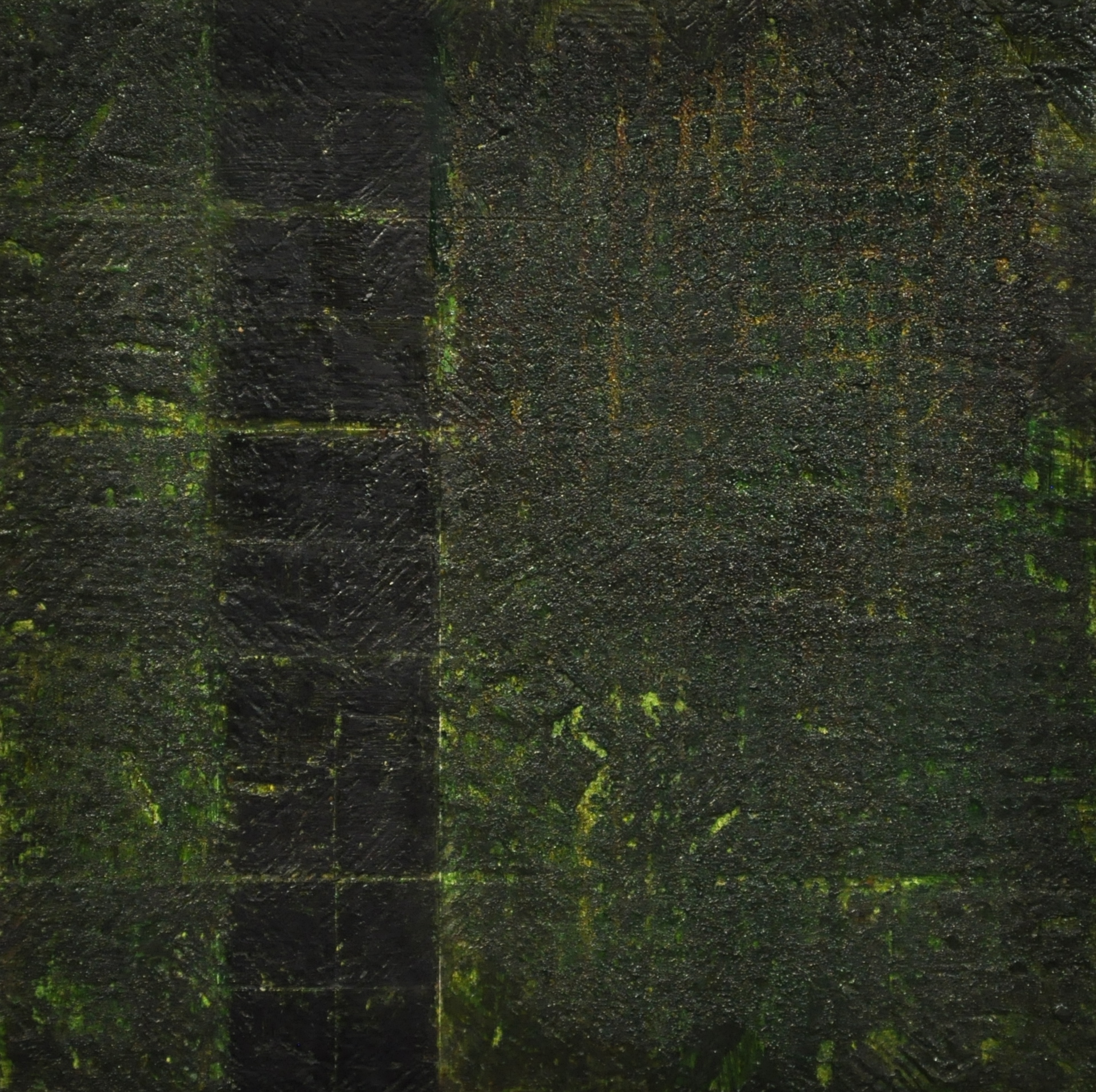 land divide, 2016 oil on panel, 12.5 x 12.5 cm