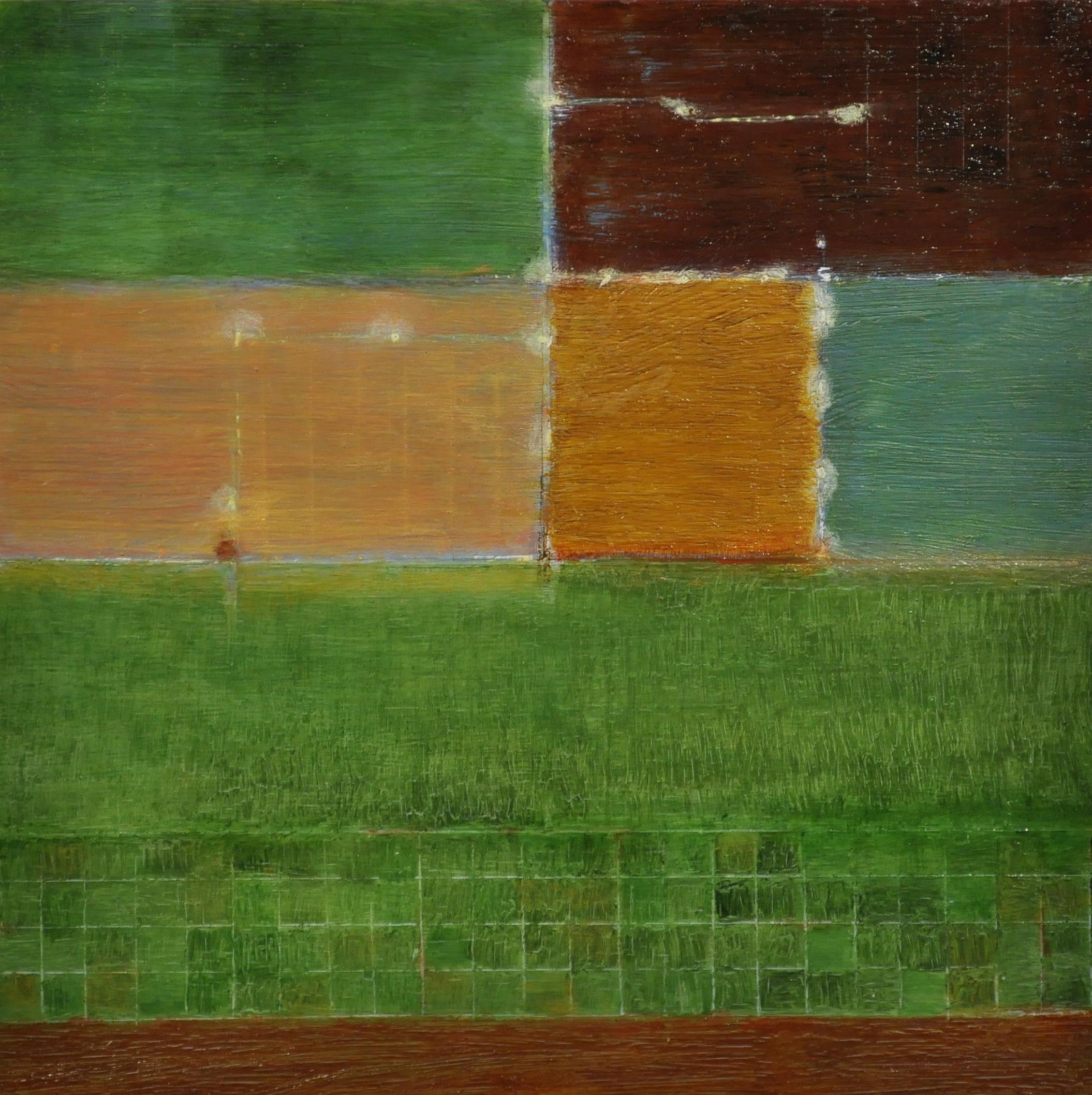 land use, 2017 oil on panel, 15.2 x 15.2 cm