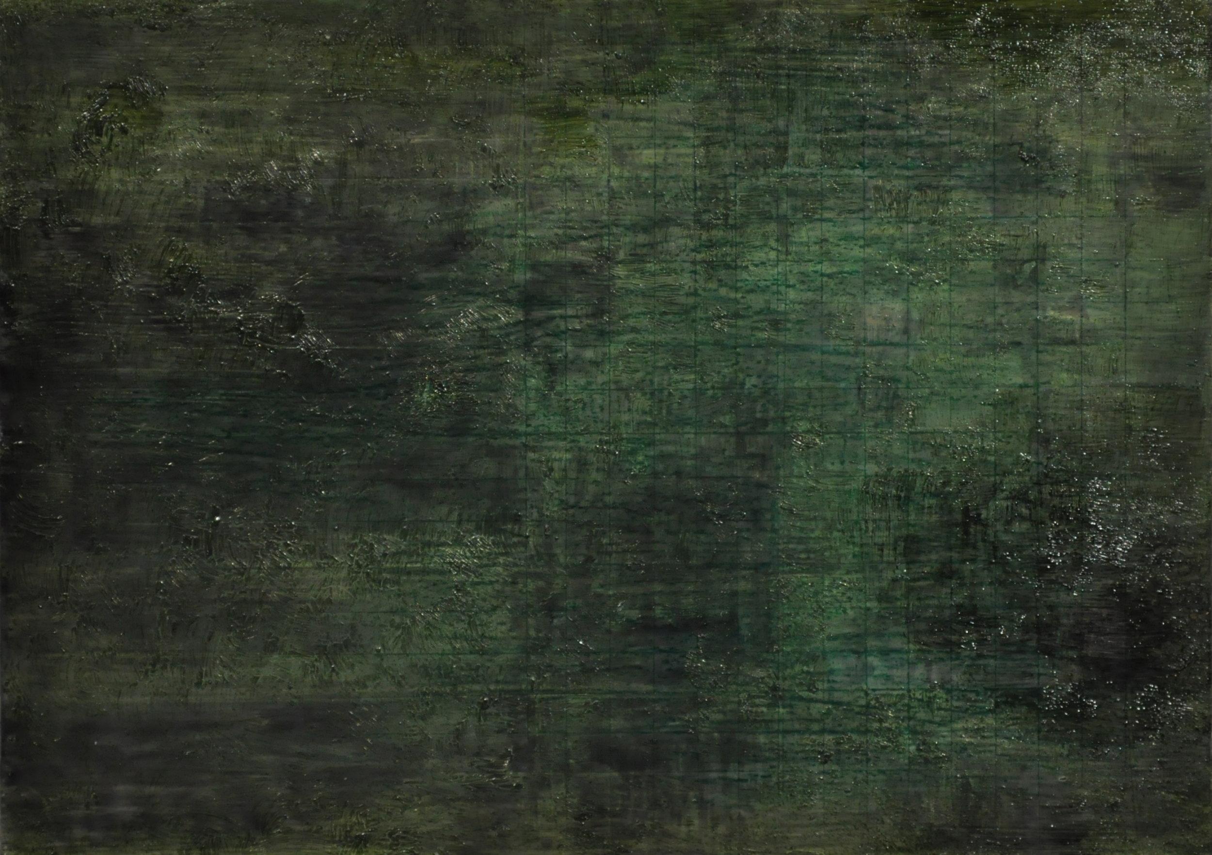 undergrowth, 2017 oil on panel, 17.7 x 12.6 cm